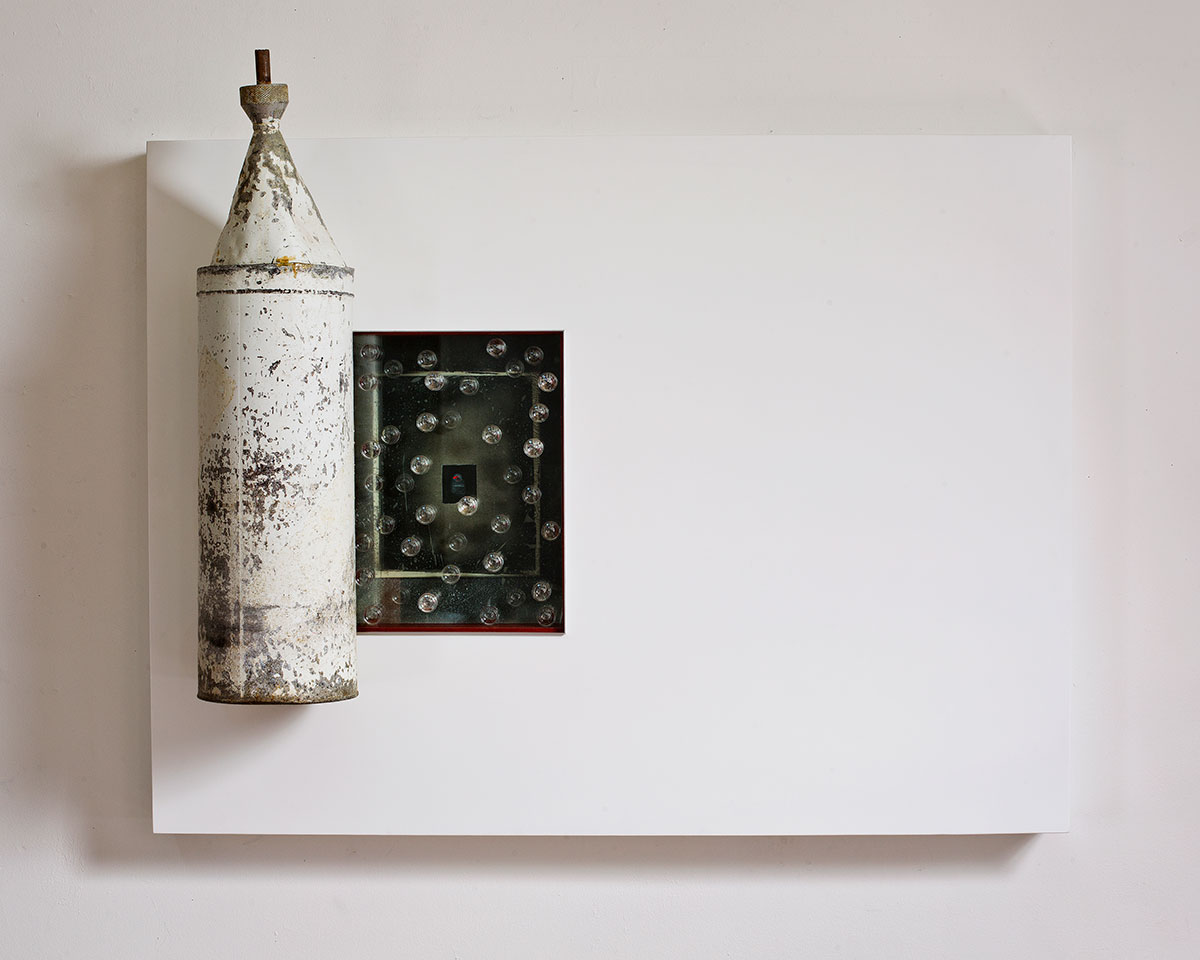 Wall Assemblage Art by Glenn Carter, Artist